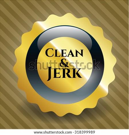 Clean & Jerk gold shiny emblem