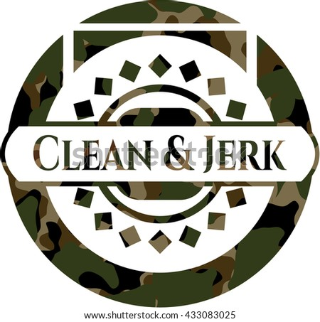 Clean & Jerk on camouflaged pattern