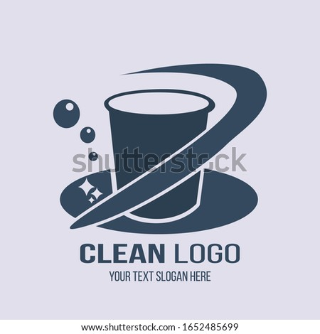 CLEAN LOGO BUCKET VECTOR DESIGN