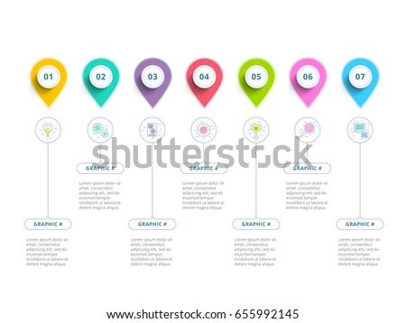Clean minimalistic business 5 step process chart infographics with step circles. Bright corporate graphic elements. Company presentation slide template. Modern vector info graphic layout design.
