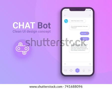 clean mobile ui design concept