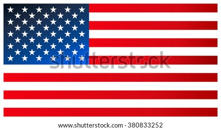 Clean modern flag of the United States of America. Vector icon. #380833252