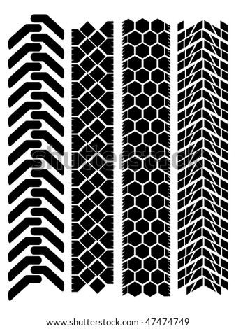 clean off-road tyre prints
