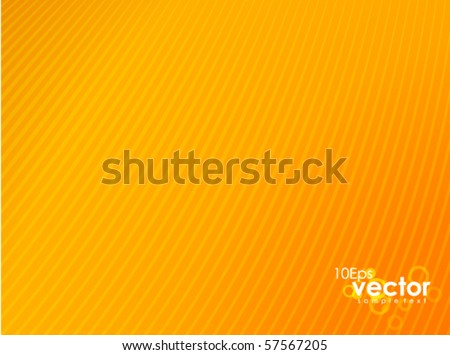 Clean orange background - stock vector