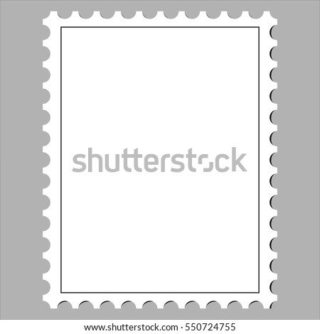 clean postage stamp, template, icon on white background vector illustration