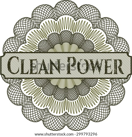 Clean Power abstract rosette