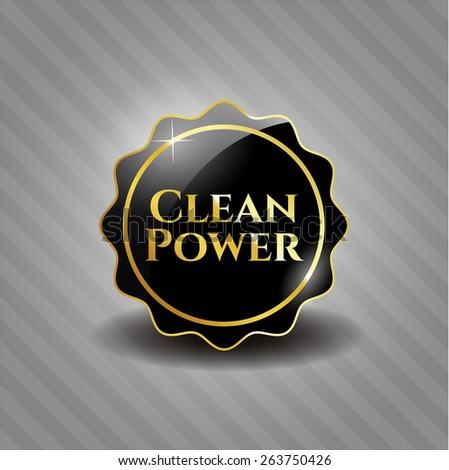 Clean power black emblem