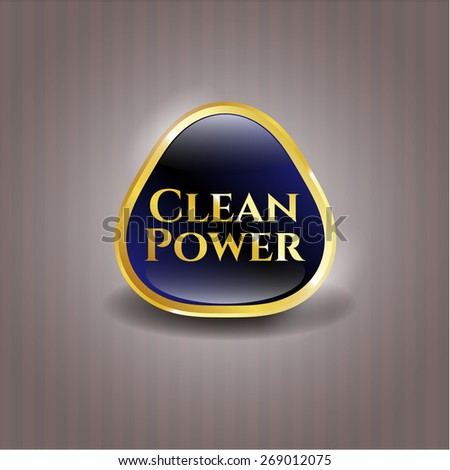 Clean power blue shiny badge