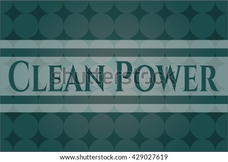 Clean Power card with nice design