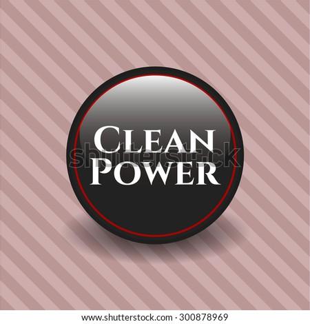 Clean Power dark badge