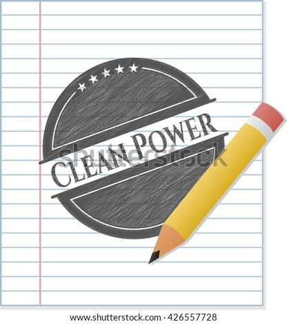 Clean Power draw with pencil effect