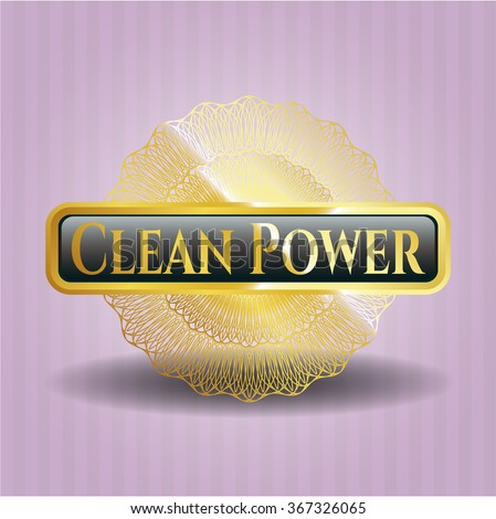 Clean Power gold emblem