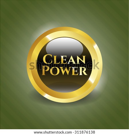 Clean Power gold shiny emblem
