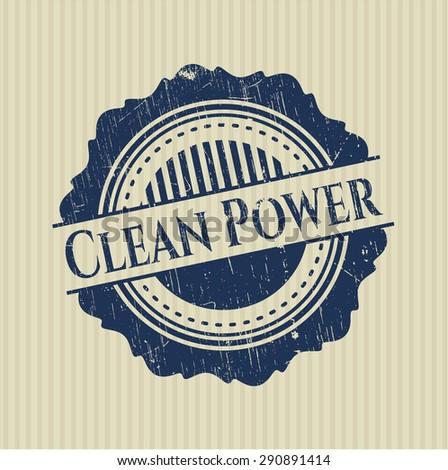Clean Power grunge seal