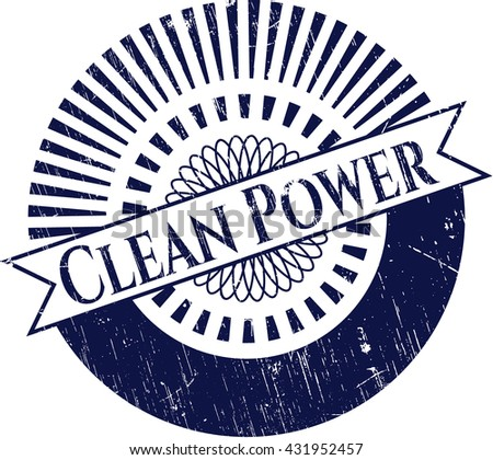 Clean Power grunge seal