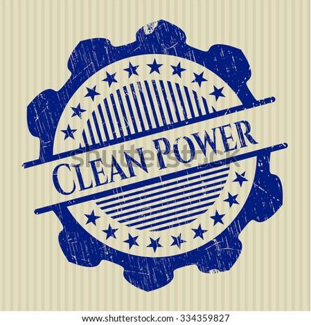 Clean Power grunge stamp