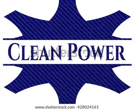 Clean Power jean background