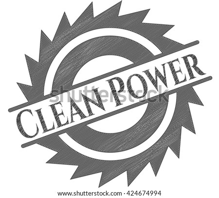 Clean Power pencil emblem