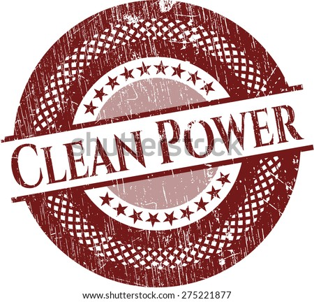 Clean power red rubber seal