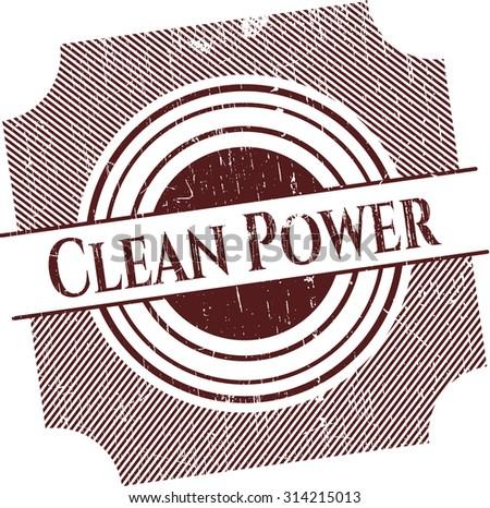 Clean Power rubber grunge seal