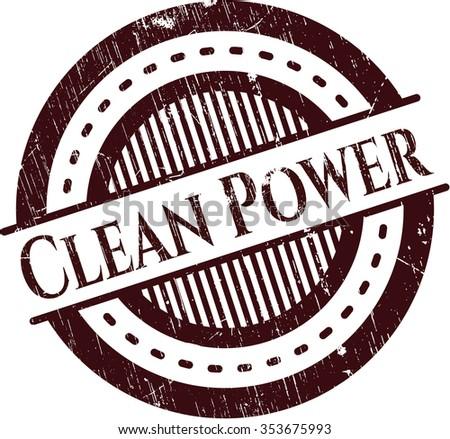Clean Power rubber grunge texture seal