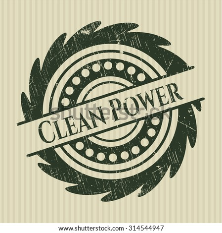 Clean Power rubber stamp
