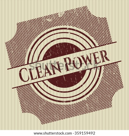 Clean Power rubber texture