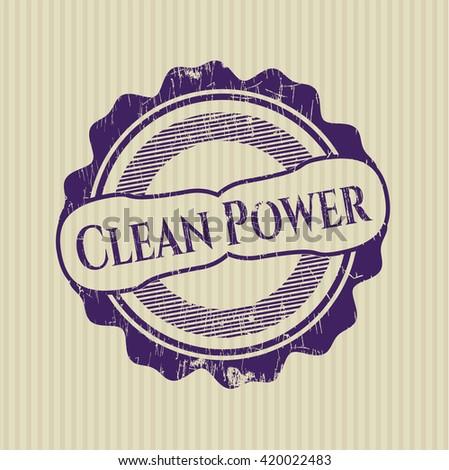 Clean Power rubber texture