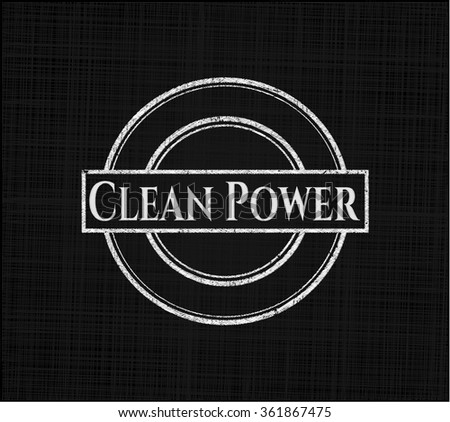 Clean Power with chalkboard texture