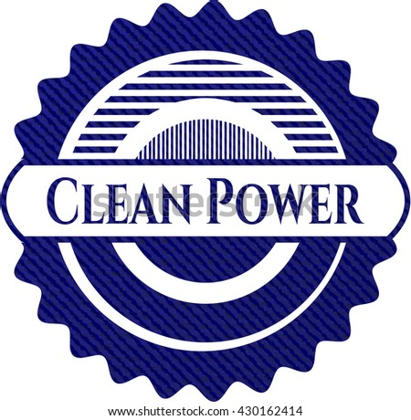 Clean Power with jean texture