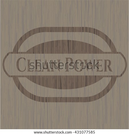 Clean Power wood emblem