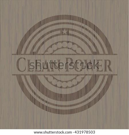 Clean Power wood emblem