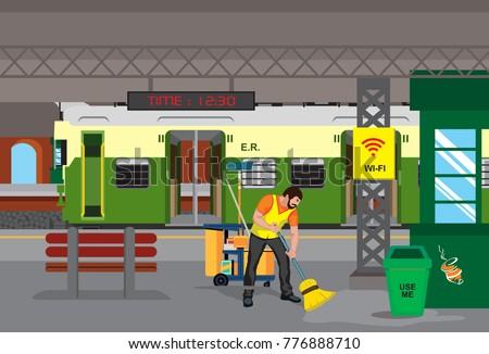 clean Railway station