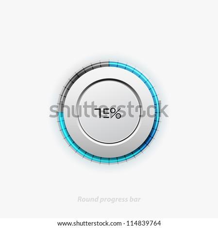 Clean round progress bar. Eps10 vector illustration