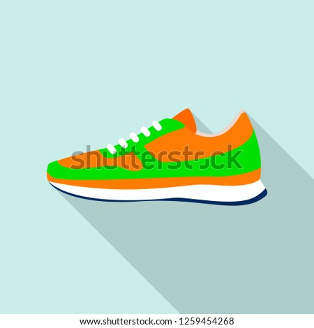 Clean sneakers icon. Flat illustration of clean sneakers vector icon for web design