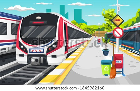 clean train station with