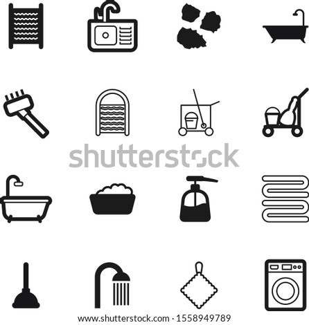 clean vector icon set such as: dump, sink, environment, plastic, douche, nozzle, waste, electric, garbage, drop, dirty, wet, showering, tap, skin, pile, graphic, cartoon, cream, rag, antibacterial