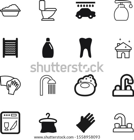 clean vector icon set such as: set, cool, rubber, wiper, board, plastic, steel, emblem, gel, showering, mouth, transparent, rag, remover, dental, car, towels, beauty, cute, eyes, rain, picture, plug