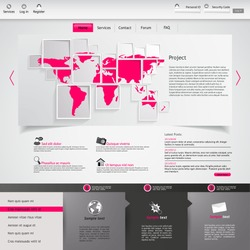 Clean white and purple website template