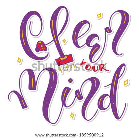clean your mind  colored vector