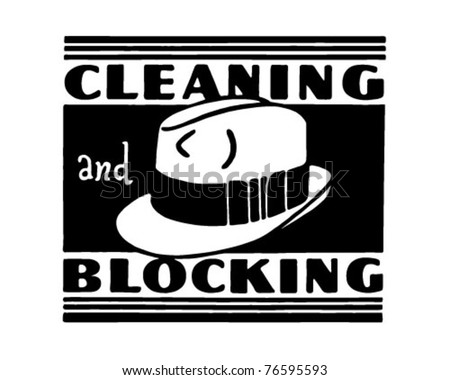 Cleaning And Blocking - Retro Ad Art Banner