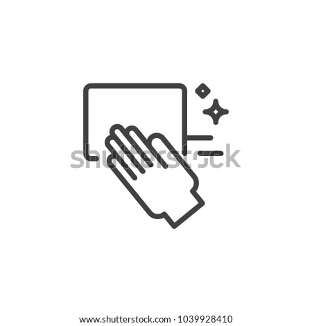 Cleaning hand outline icon. linear style sign for mobile concept and web design. Washing hand simple line vector icon. Symbol, logo illustration. Pixel perfect vector graphics