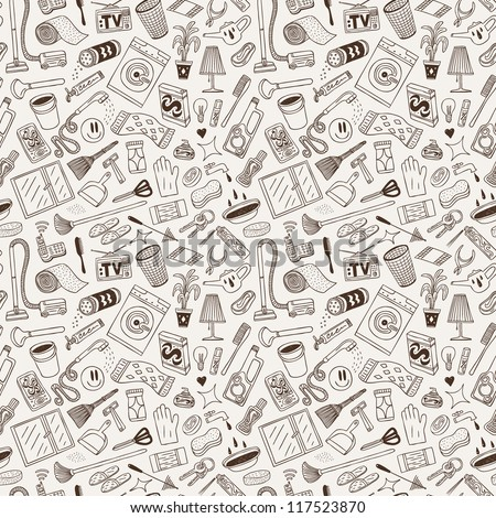 cleaning house - seamless background