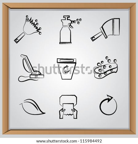 Cleaning icon set,Vector
