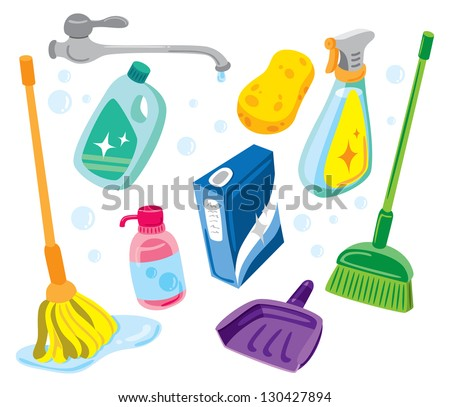 cleaning kit icons
