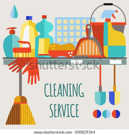 cleaning products flat icon