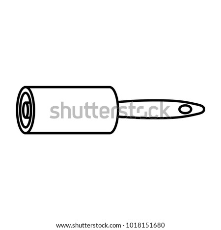 cleaning roller, vector illustration