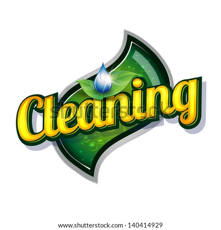 Cleaning service vintage sign