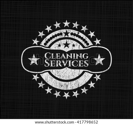 Cleaning Services chalk emblem