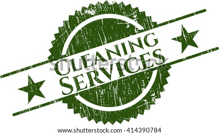 Cleaning Services grunge seal